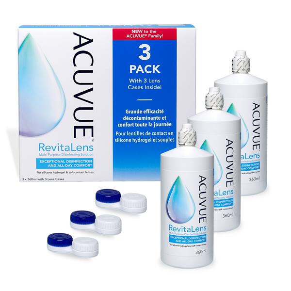 Acuvue Revitalens 3x360ml Pflegemittel