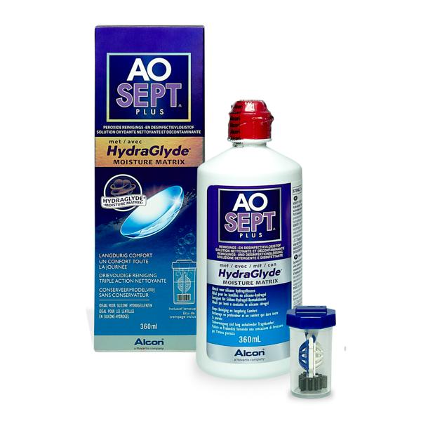 Aosept Plus HydraGlyde 360ml Pflegemittel