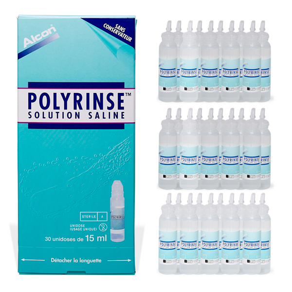 produit lentille Polyrinse 30x15ml