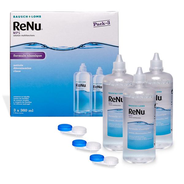 produit lentille ReNu Eco MPS 3x360ml