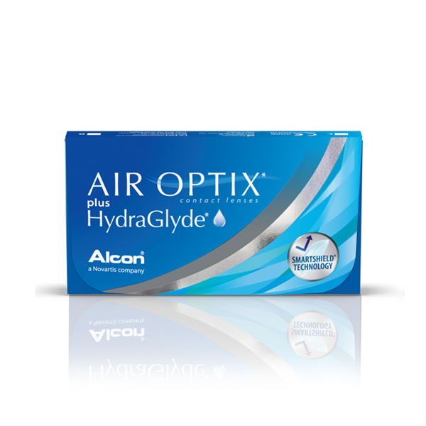 Lentilles de contact Air Optix Plus Hydraglyde