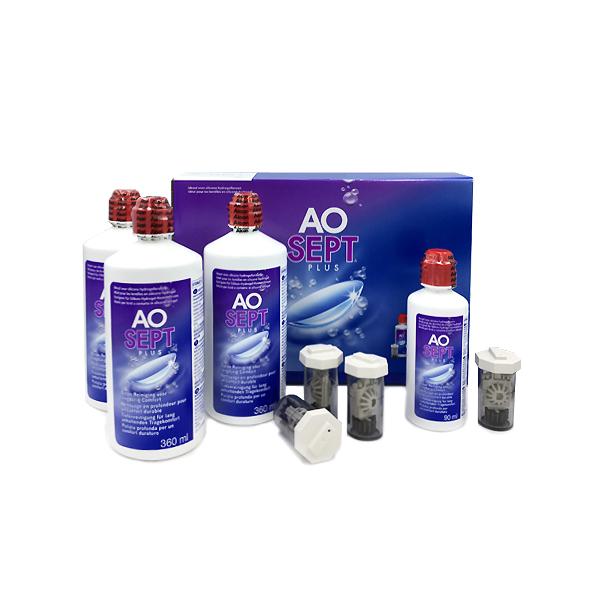 Kontaktlencse ápoló Aosept Plus 3x360 ml +90ml