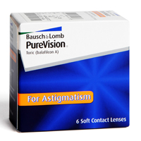 kontaktlencsék PureVision Toric