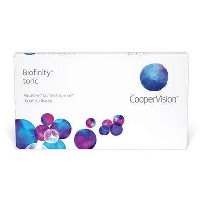 nákup kontaktních čoček Biofinity Toric 3