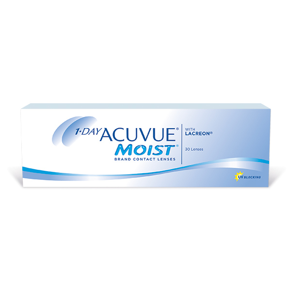 Lentilles de contact 1-Day Acuvue Moist 30