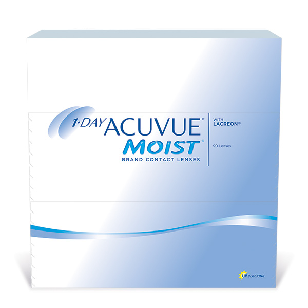 Lentilles de contact 1-Day Acuvue Moist 90