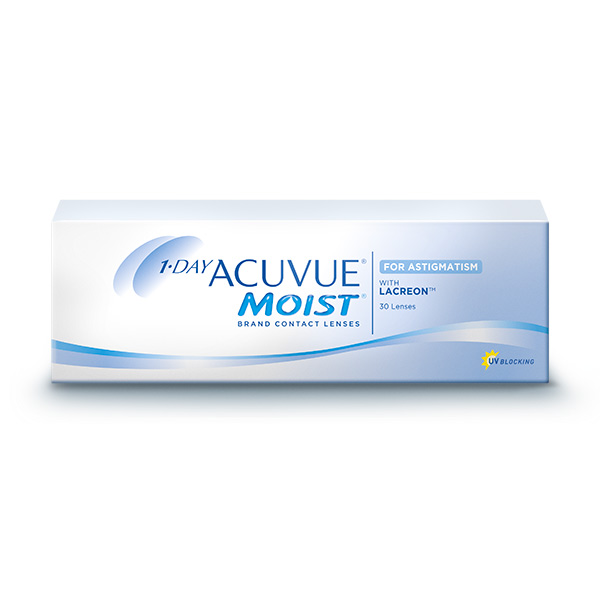 achat lentilles 1 Day Acuvue Moist for Astigmatism 30