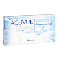 Acuvue Oasys for Astigmatism with Hydraclear Plus Linsen